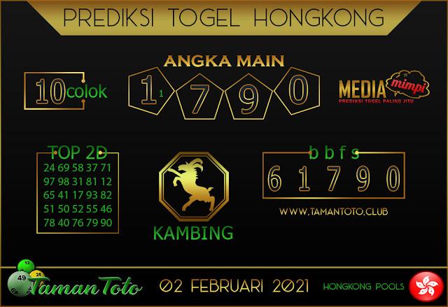 Prediksi Togel HONGKONG TAMAN TOTO 03 FEBRUARI 2021