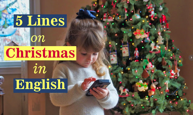 5 lines on christmas in english