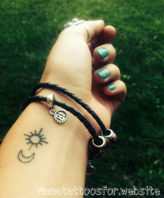 sun and moon best friend tattoos