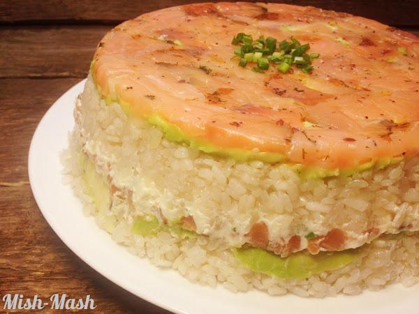 Суши торта