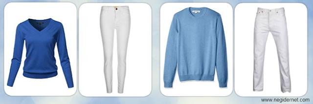 mavi-kazak-beyaz-pantolon-kombin-bayan-erkek-ne-giyilir