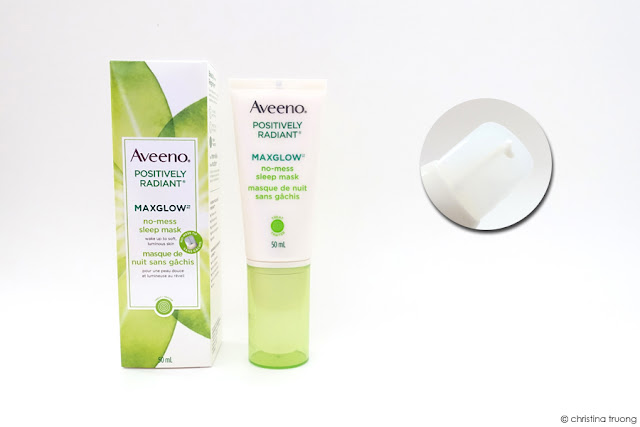Aveeno Positively Radiant Maxglow No-Mess Sleep Mask Skincare Review