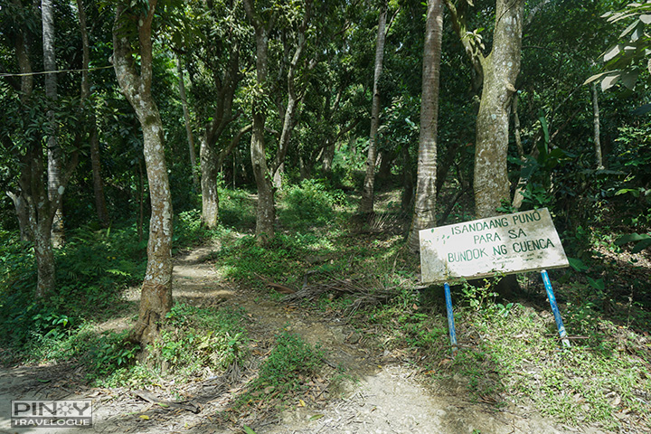 At the exit point of Maculot's traverse trail