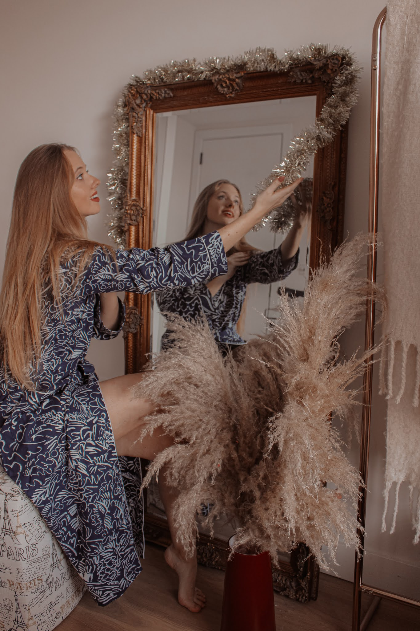 Bonsoir of London Claire de Quénetain Collaboration Dressing Gown