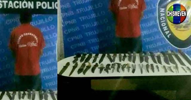 Detenido en Boconó con 41 armas blancas