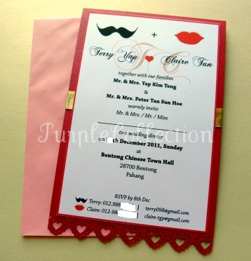 Mustache & Lip Wedding Invitation Card, wedding invitation card, mustache and lip wedding invitation card, mustache and lip, handmade card, wedding card, wedding, wedding invitation cards