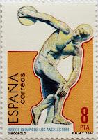 JUEGOS OLÍMPICOS LOS ÁNGELES 1984, DÍSCOBOLO