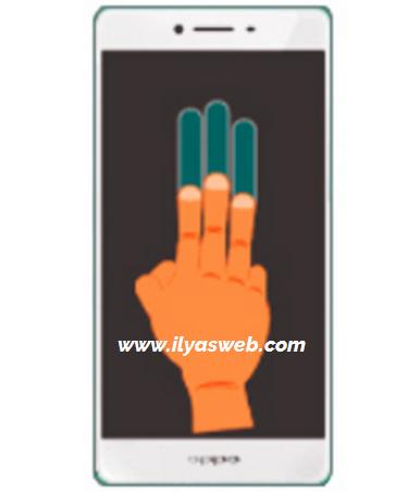 Cara screenshot oppo dengan 3 jari