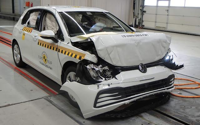 Novo VW Golf (Mk8) 2020 obtém 5 estrelas Euro NCAP