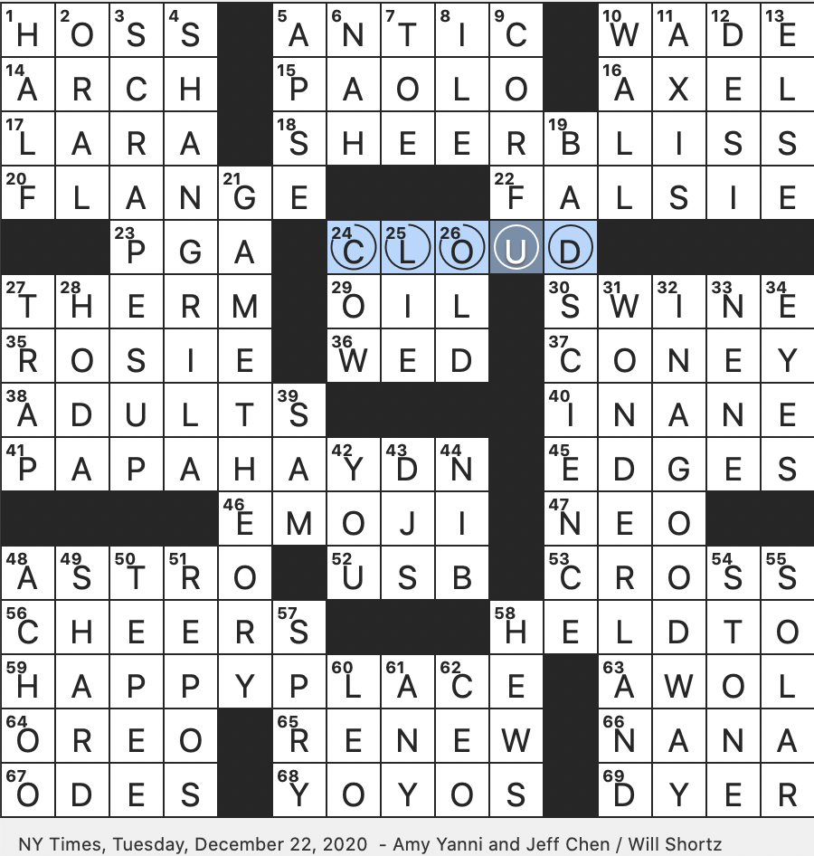 Rex Parker Does The Nyt Crossword Puzzle Projecting Rim Of Metal Beam Tue 12 22 20 Field Of Mathematics Pioneered By John Von Neumann Greek Tourist Destination Italian Name Of