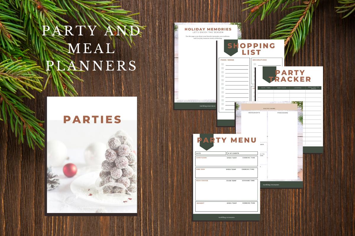 printable christmas planner 2019, free holiday organizer, free christmas planner