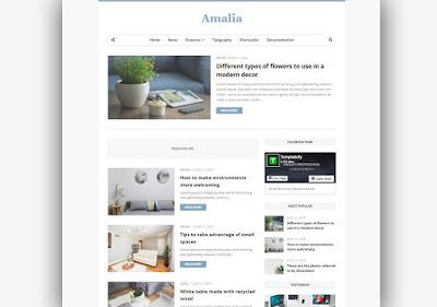 Amalia Responsive Blogger Template
