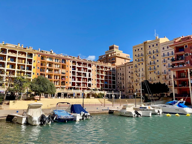 Canals and boats in Port Saplaya, Valencia, Spain