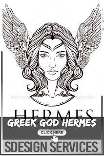 Vector Illustration of the Greek God Hermes - Vetor stock de Illustration Roman Greek God Hermes