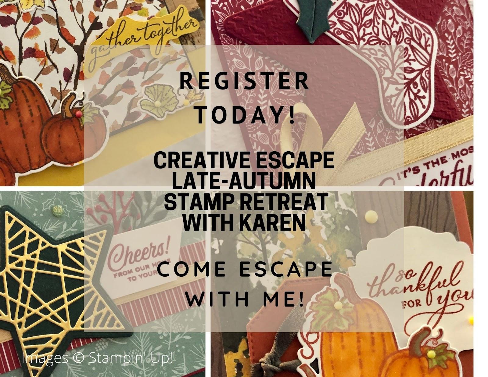 Creative Escape Late-Autumn Stamp Retreat