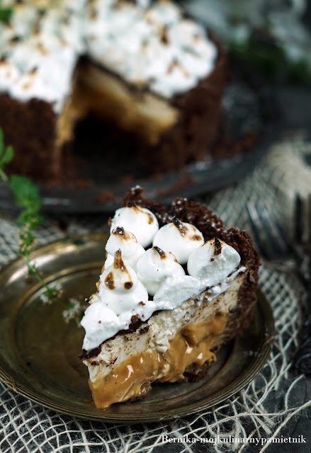 sernik, ciasto, deser, kajmak, banany, na zimno, bernika, twarog, kulinarny pamietnik