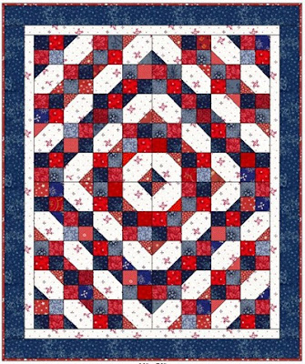 Fourth Of July Quilt 60 X 72 Free Pattern By Bonnie Hunter At Quiltville Pdf