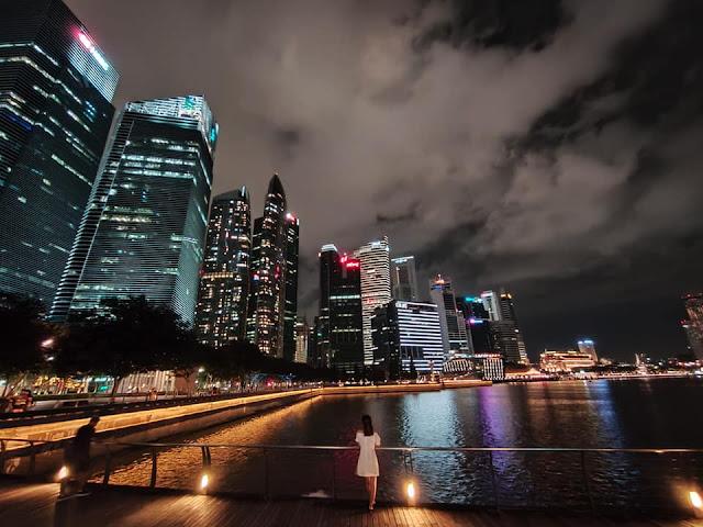 Keindahan Marina Bay Sands Singapore di Akhir Tahun 2020