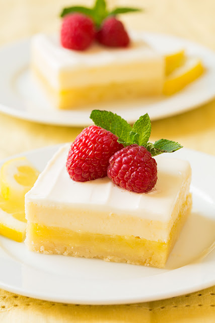 Recipes: cheesecake lemon bars {10 Lovely Lemon Desserts by Cool Chic Style Fashion}
