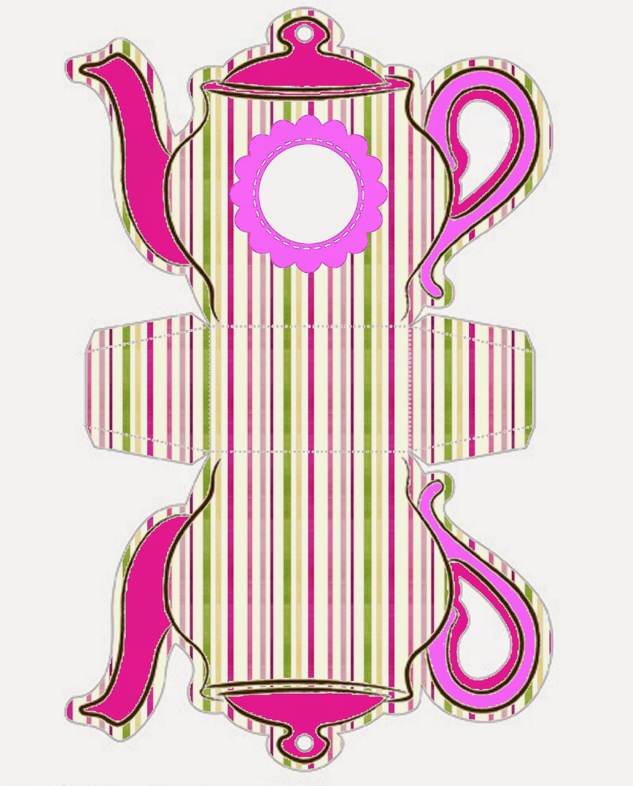 Rayas de Colores: Caja Tetera Para Imprimir Gratis.   Ideas y ...