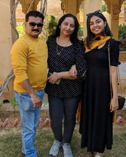 Prajakta Koli with her family