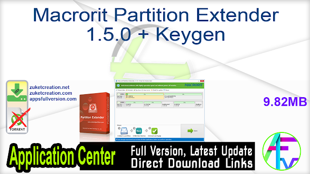 Macrorit Partition Extender 1.5.0 + Keygen