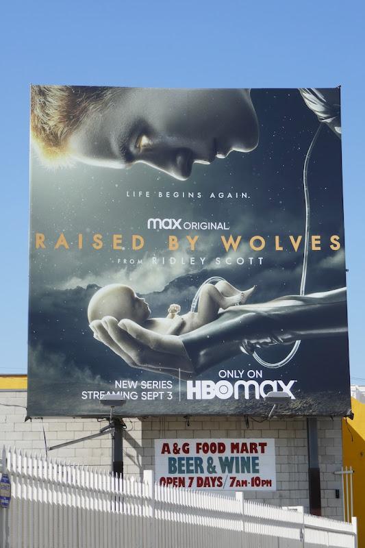 Raised by Wolves series premiere billboard