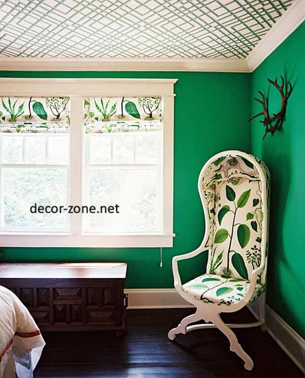 bedroom paint colors, dark green bedroom