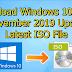 Download Windows 10 1909 November 2019 Update Pro x64 bit x32 bit ISO file