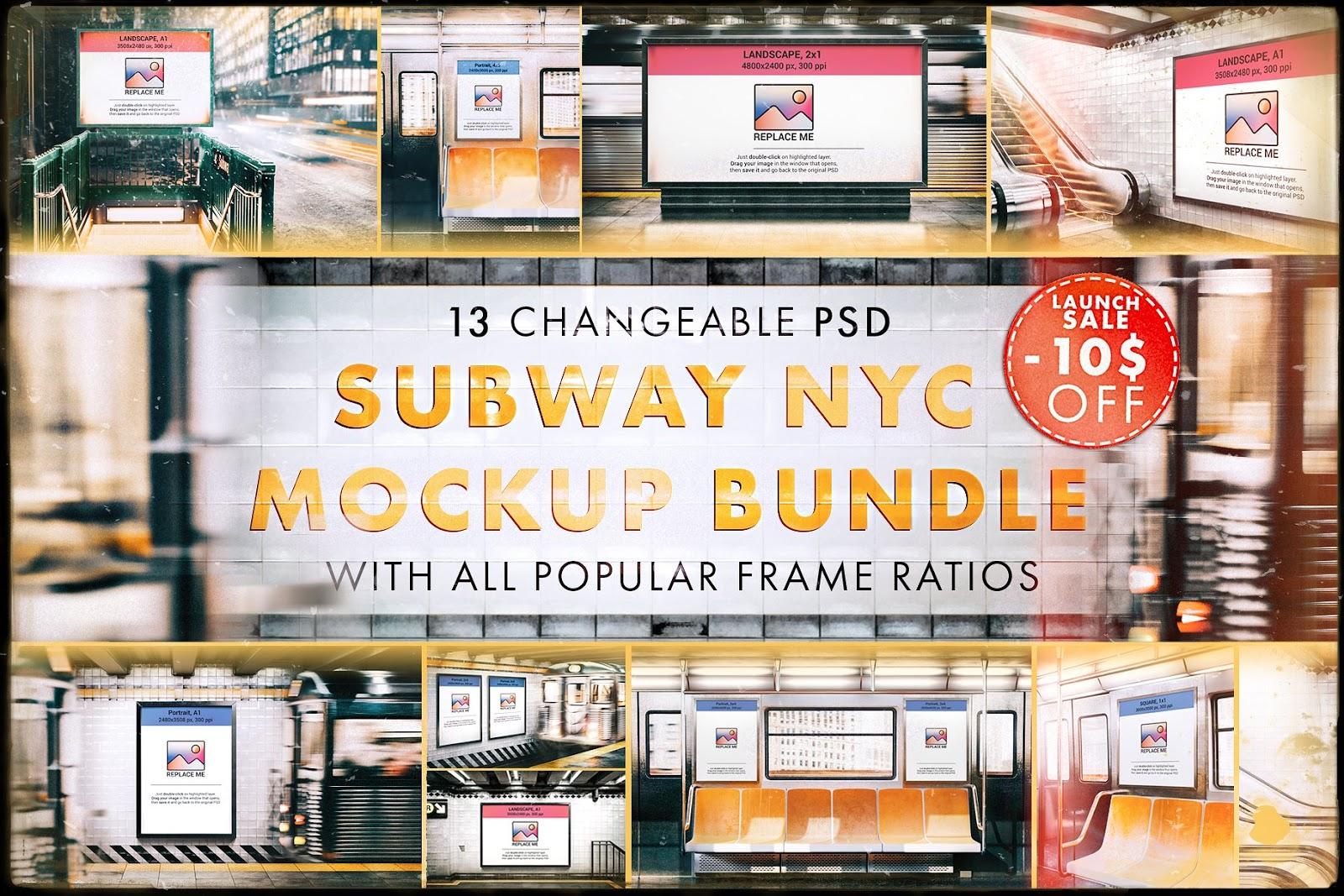 Ultimate Subway NYC Mockup Bundle