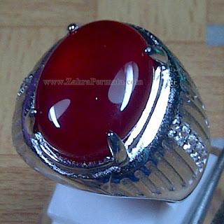 Cincin Batu Permata Red Carnelian - ZP 977