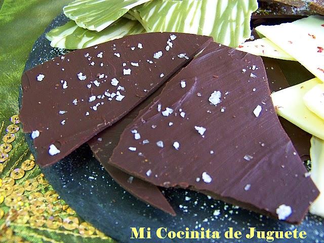 Lascas de Chocolate con Sabores: Sal