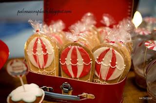 Biscoito decorado balão de ar quente
