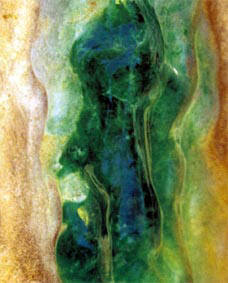 Natural imperial green jade boulder with a great saturation