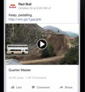 anúncio formato de vídeo único do facebook