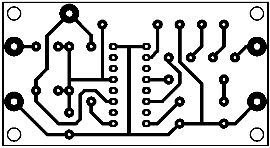 Printed-Circuit-Layout-Single-IC-2.5W-Amplifier