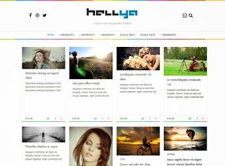 Hellya Simple Minimalist Blogger Template