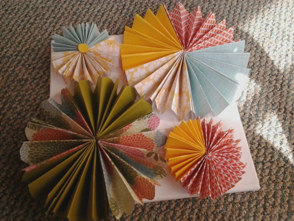 Oh Crafty Day Beautiful Paper Rosette Flower Wall Art