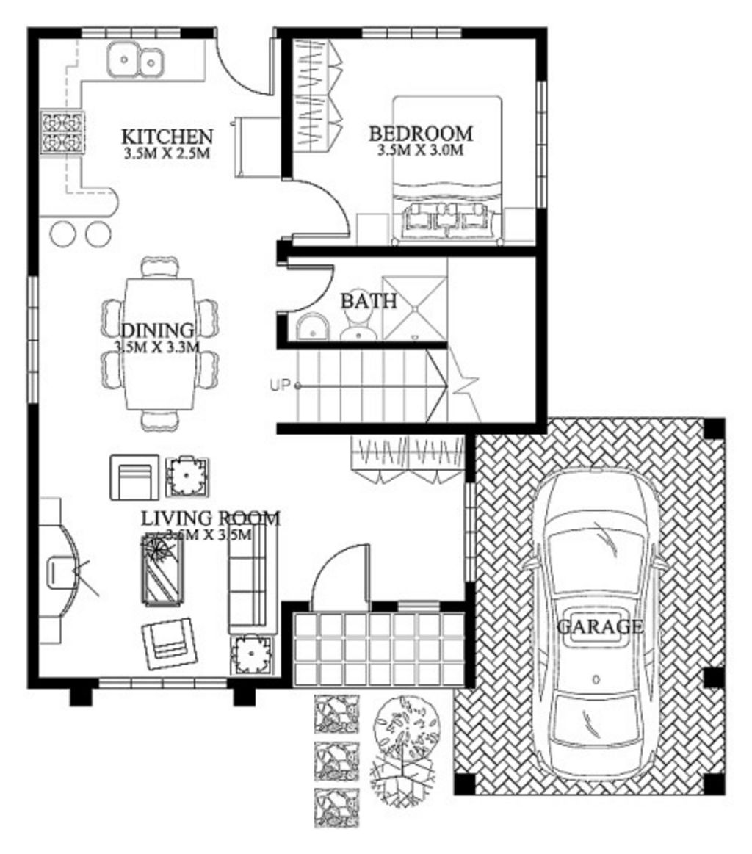 Bentuk Denah Rumah Modern 1 2blantai Terbaru