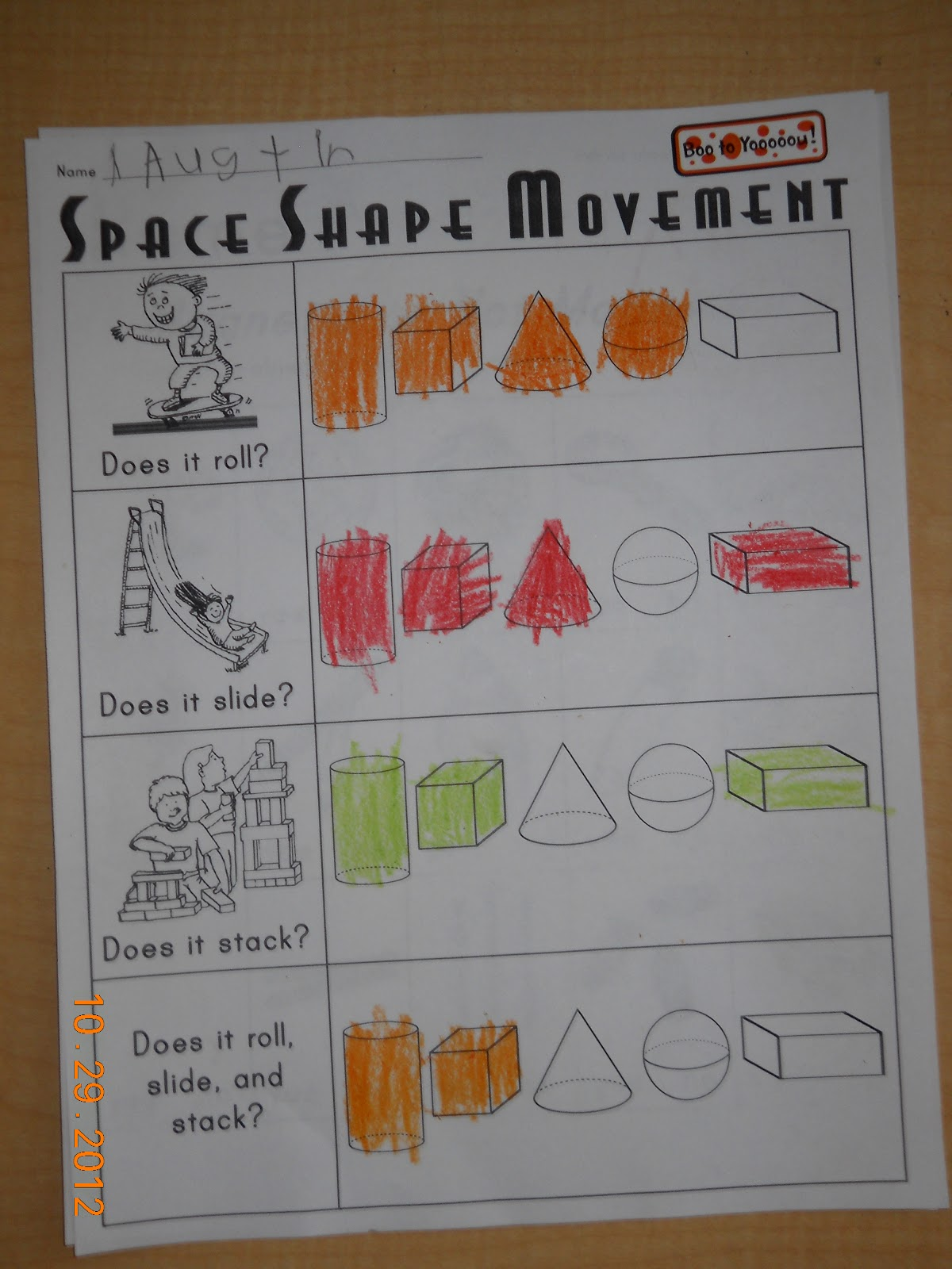 Mrs Whaley S Kindergarten Space Shapes