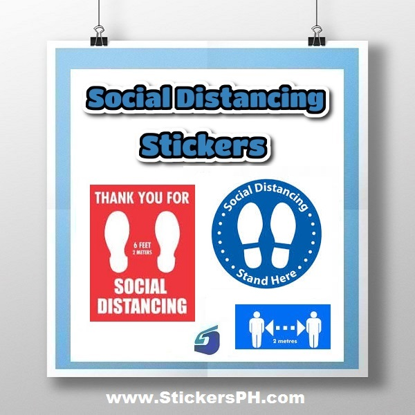 Social Distancing Stickers & Decals