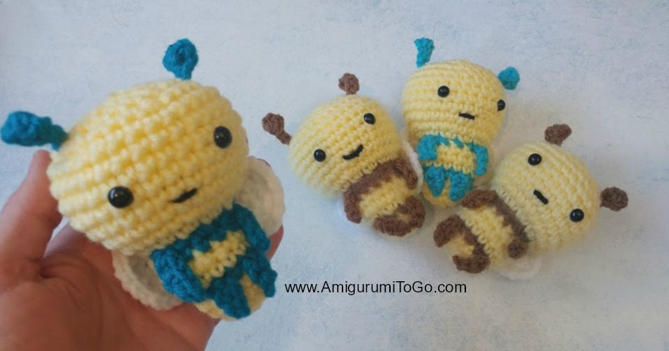 Bumble bee crochet / amigurumi bee - YouTube | 503x959