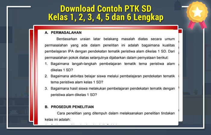 Contoh PTK SD