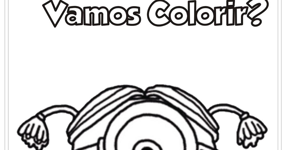 Desenho Minion Garota Para Colorir