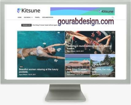 Kitsune redesign premium blogger template
