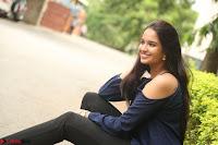 Poojita Super Cute Smile in Blue Top black Trousers at Darsakudu press meet ~ Celebrities Galleries 071.JPG