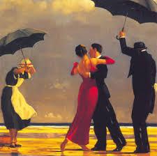 رقصات المحبين تحت المطر