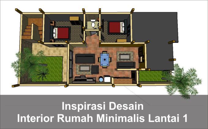desain interior rumah lantai 1