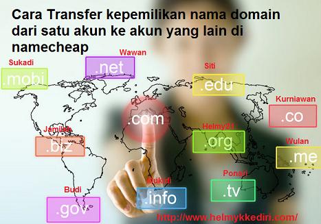 Cara transfer domain ke akun namecheap yang lain