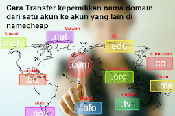 Cara transfer domain keakun namecheap